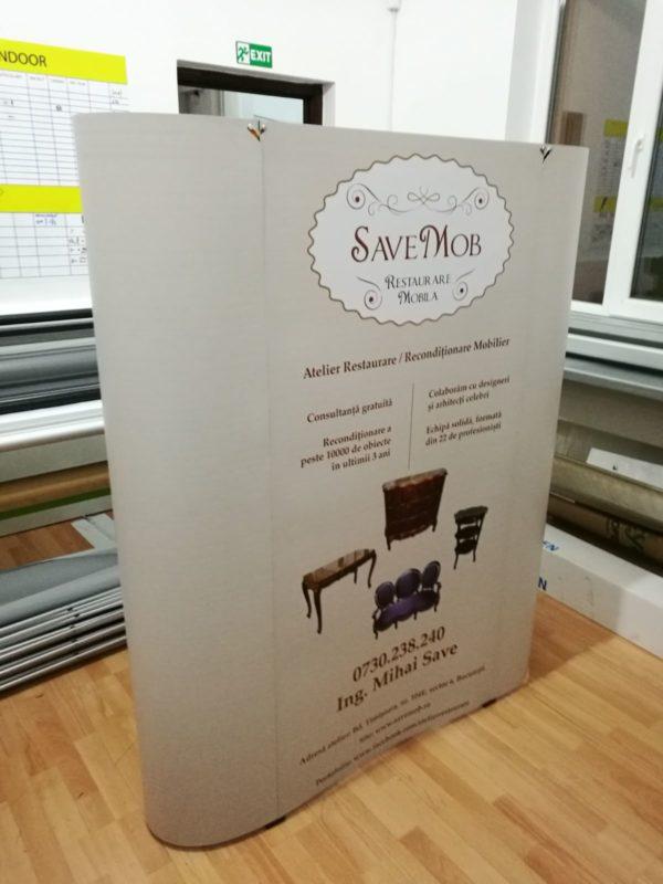 spider calsic, print autocolant caserat pe placa pvc, montaj rapid, model drept, curb, 3x3,