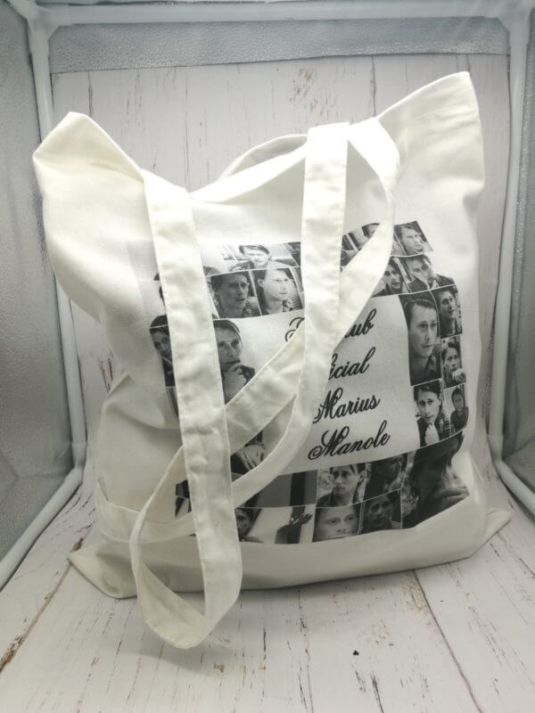 sacosa textila, 100% bumbac , personalizata