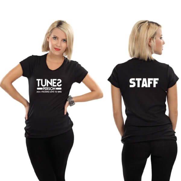 tricouri personalizate cu autocolant PF film prin termotransfer