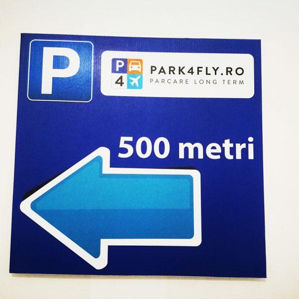Placa-PVC cu caserare de autocolant, personalizata pentru signalistica, indoor-outdoor